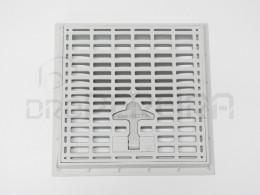 ARO C/GRELHA PVC SIMPLES CINZA 20x20
