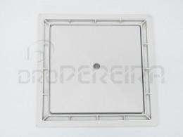 ARO C/TAMPA REBAIXADA PVC SIMPLES CINZA 30x30