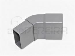 CURVA PVC RECTANGULAR I 45º 80x40