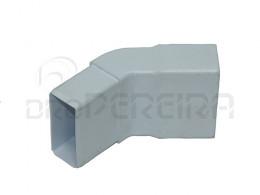 CURVA PVC RECTANGULAR BRANCA I 45º 80x40