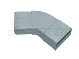 CURVA PVC RECTANGULAR BRANCO IL 45º  80x40
