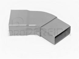 CURVA PVC RECTANGULAR IL 45º 80x40