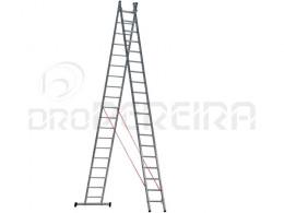 ESCADA STANDARD L66 ALUMINIO DUPLA 6m+6m