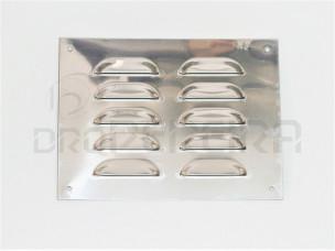 GRELHA VENTILAÇAO INOX PLANO 20x15Cm