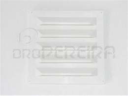 GRELHA VENTILAÇAO PLASTICO 25x25Cm BRANCO