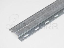PERFIL OMEGA C/FUROS 40mm (3m)